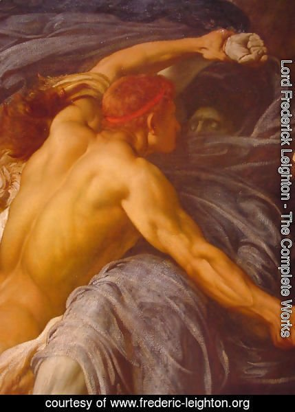 Lord Frederick Leighton - Hercules Wrestling with Death for the Body of Alcestis [detail #1]