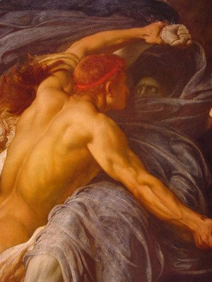 Hercules Wrestling with Death for the Body of Alcestis [detail #1]