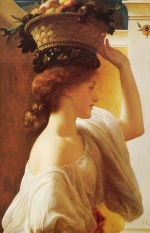Lord Frederick Leighton - Eucharis - A Girl with a Basket of Fruit