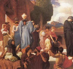 Lord Frederick Leighton - Captive Andromache [detail: left]