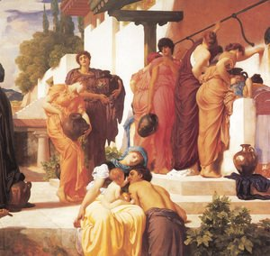Lord Frederick Leighton - Captive Andromache [detail: right]