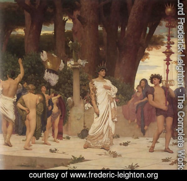 Lord Frederick Leighton - The Daphnephoria [detail: right]