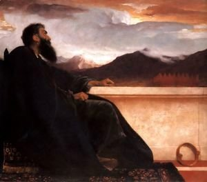 "Lord Frederick Leighton - David (at rest) (or David: ""Oh, that I had wings like a Dove! For then would I fly away, and be at rest."" Psalm 55:6)"