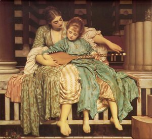 Lord Frederick Leighton - The Music Lesson