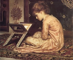 Lord Frederick Leighton - Study: At a Reading Desk