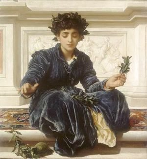 Lord Frederick Leighton - Weaving the Wreath