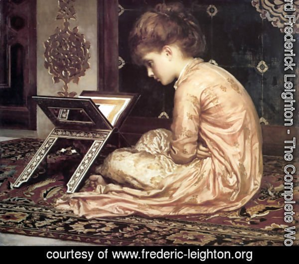 Lord Frederick Leighton - Study, At a Reading Desk