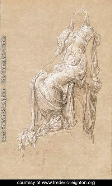Lord Frederick Leighton - Study for 'The Spirit of the Summit'