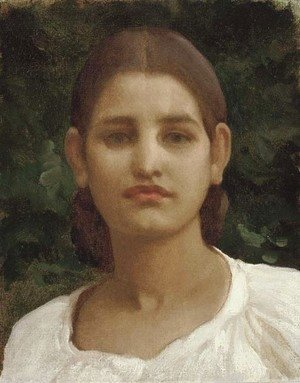 Lord Frederick Leighton - Head of a girl (thought to be from Capri)