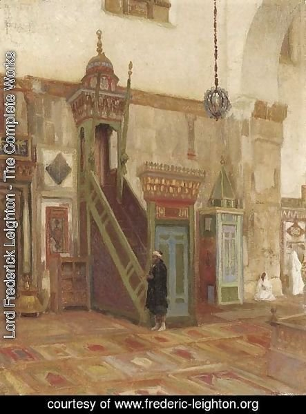 Lord Frederick Leighton - Interior of a Mosque or Mimbar of the Great Mosque at Damascus
