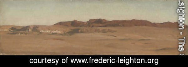 Lord Frederick Leighton - Red Mountains, Desert, Egypt