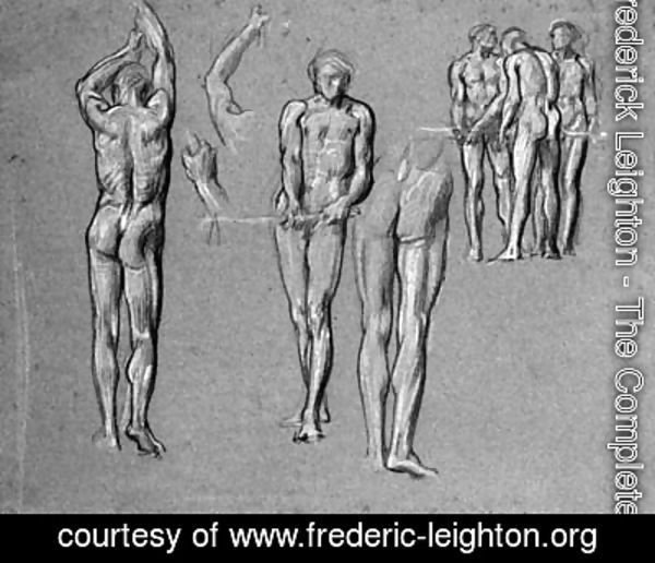 Studies of figures for The Arts of Industry as Applied to War