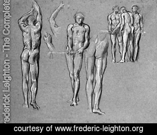 Lord Frederick Leighton - Studies of figures for The Arts of Industry as Applied to War
