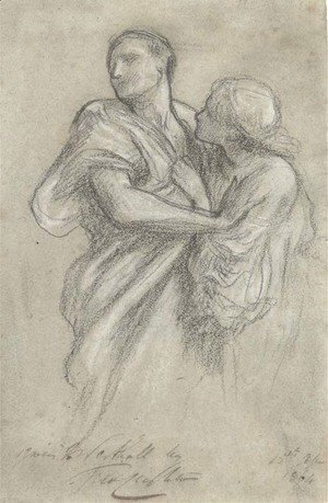 Lord Frederick Leighton - Study for Orpheus and Eurydice, c.1864