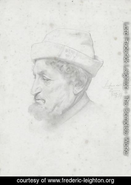 Study Of A Bust Of The Poet Bellini
