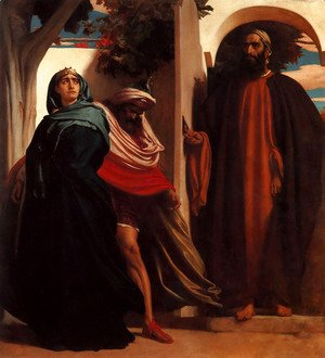 Lord Frederick Leighton - Jezebel and Ahab Met by Elijah
