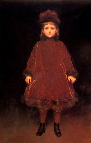 Lord Frederick Leighton - Portrait of a child