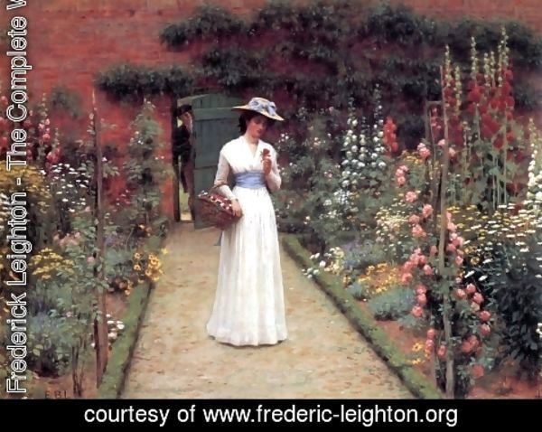 Lord Frederick Leighton - Lady in a Garden