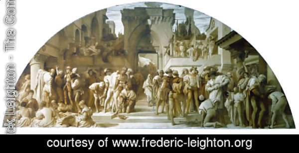 Lord Frederick Leighton - Cartoon for the fresco The Arts of Industry as Applied to War