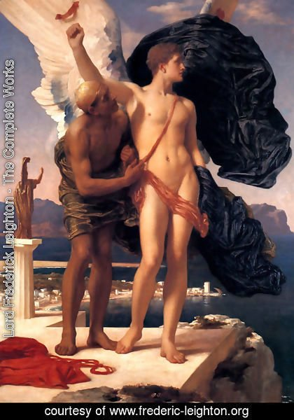 Lord Frederick Leighton - Daedalus And Icarus