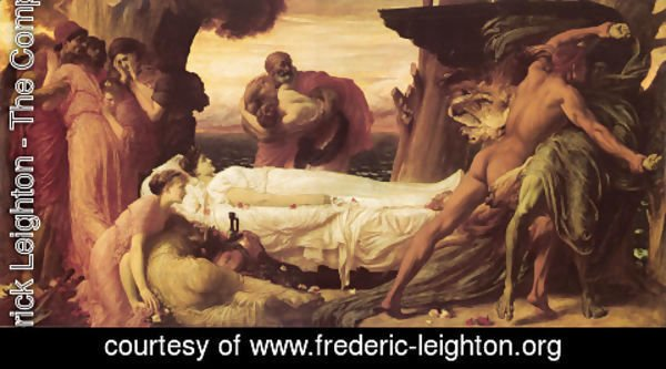 Lord Frederick Leighton - Hercules Wrestling With Death For The Body Of Alcestis