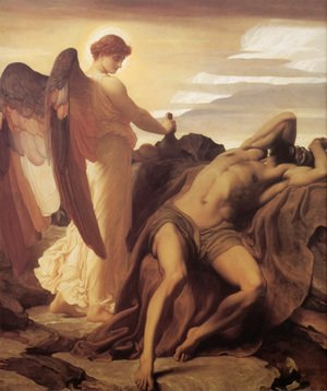 Lord Frederick Leighton - Elijah In The Wilderness