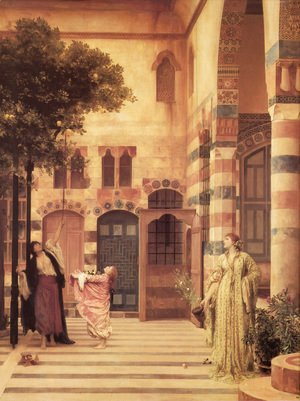 Lord Frederick Leighton - Old Damascus  Jew's Quarter