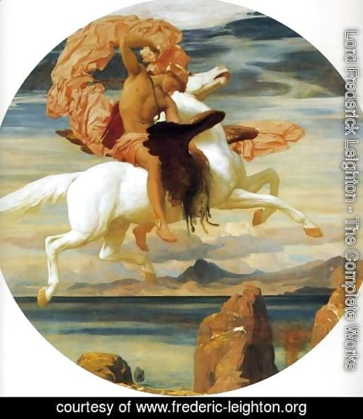Lord Frederick Leighton - Perseus On Pegasus Hastening To The Rescue Of Andromeda
