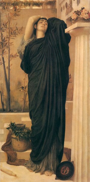 Lord Frederick Leighton - Electra At The Tomb Of Agamemnon