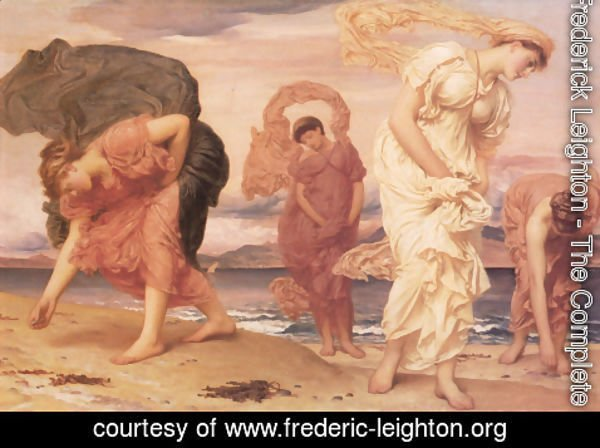 Lord Frederick Leighton - Greek Girls Picking Up Pebbles By The Sea