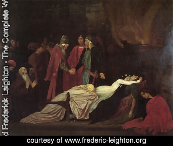 Lord Frederick Leighton - The Reconciliation Of The Montagues And Capulets Over The Dead Bodies Of Romeo And Juliet