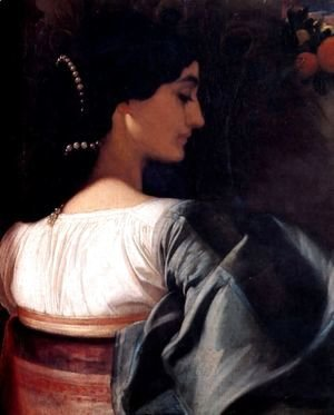 Lord Frederick Leighton - An Italian Lady