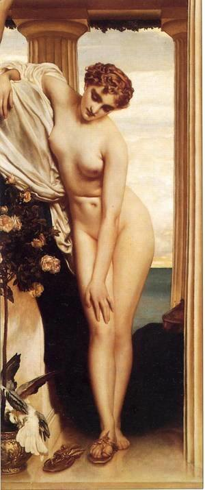 Lord Frederick Leighton - Venus Disrobing For The Bath